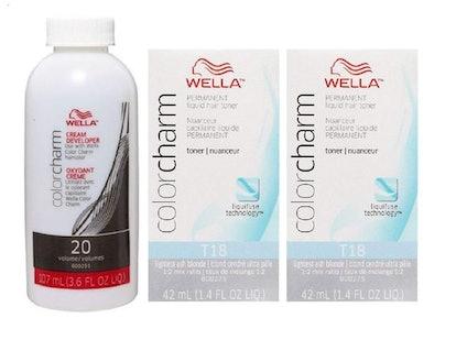 Wella Color Charm T18 Lightest Ash Blonde (2-Pack) With Developer