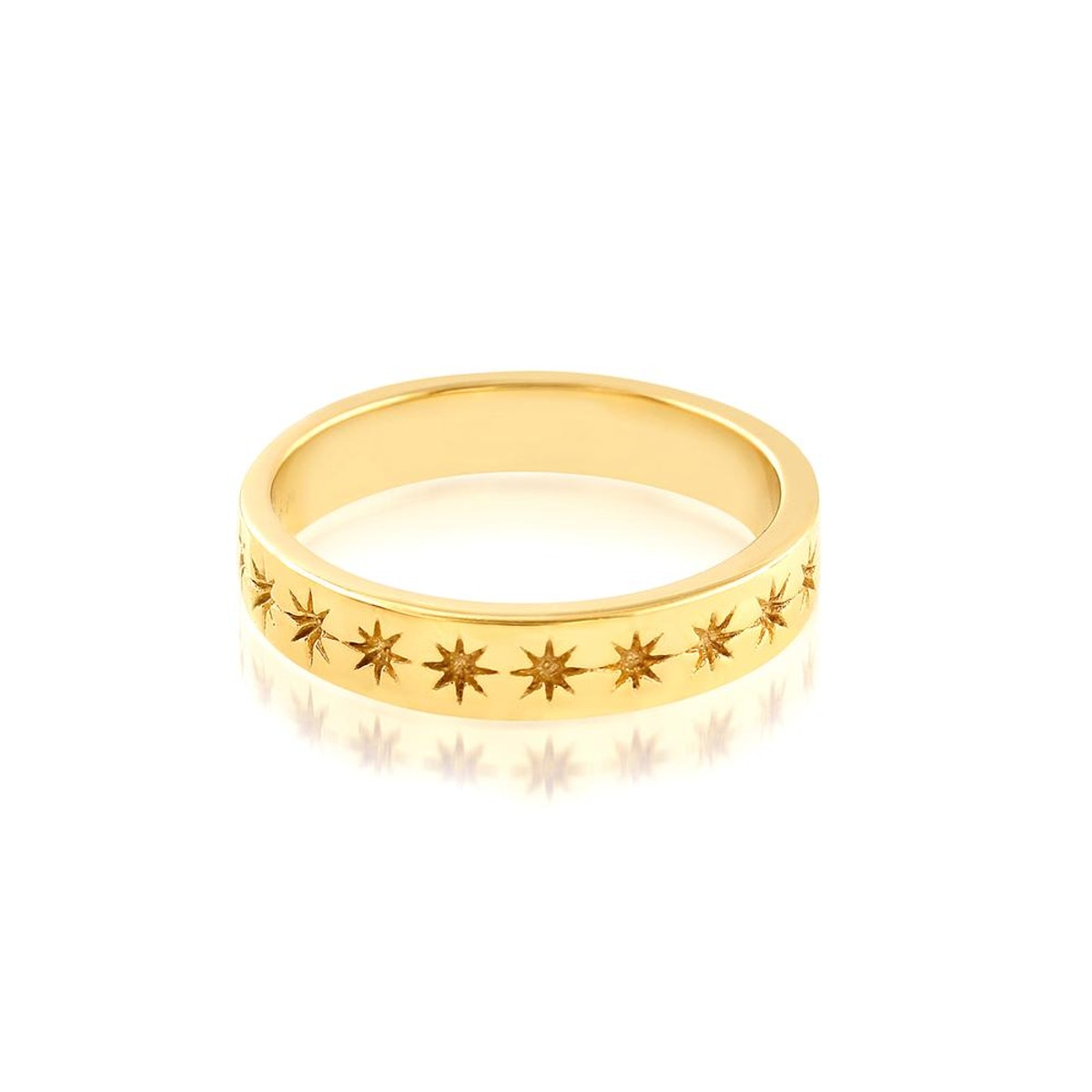STELLAR RING - 18 KARAT GOLD VERMEIL