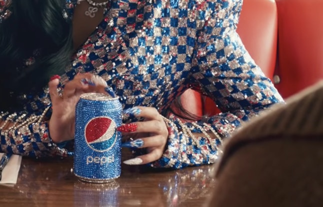 Image result for cardi b's nails in pepsi ad