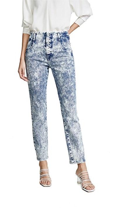Button Front Jeans
