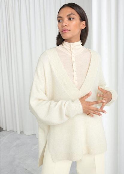 Oversized Wool Blend Sweater