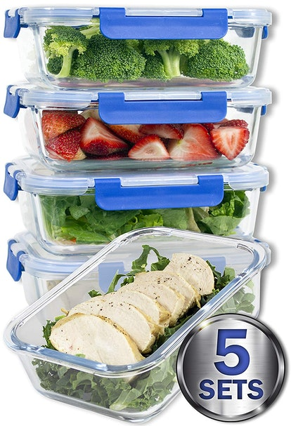 Misc Home Glass Meal Prep Container Sets (Set of 5)