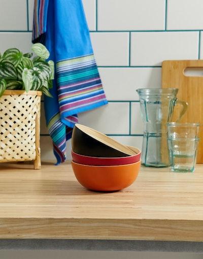ASOS Supply 3 Pack Bamboo Bowls