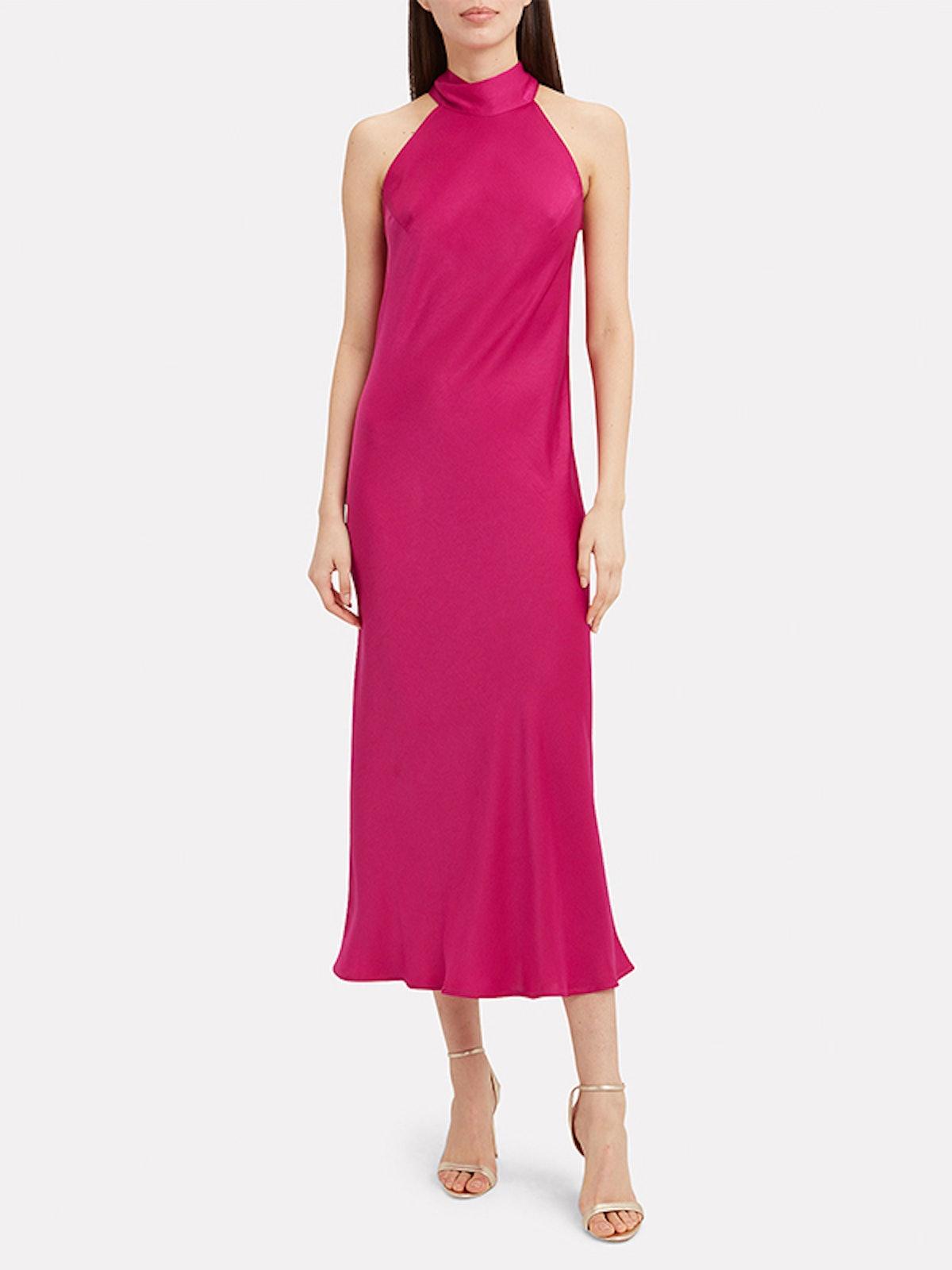 Sienna Satin Midi Dress
