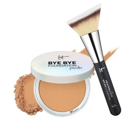 Bye Bye Foundation Full Coverage Powder with Luxe Brush