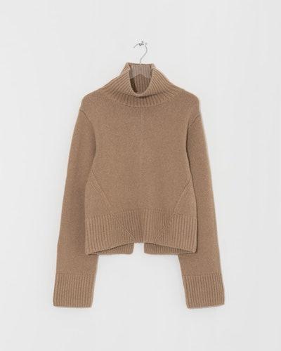 Khaite Brown Cashmere Wallis Sweater