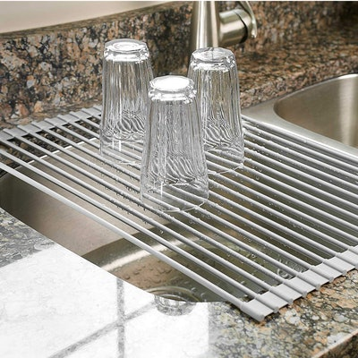 Surpahs Over the Sink Roll-Up Dish Drying Rack