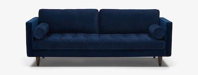 Briar Sofa, Royale Cobalt and Mocha