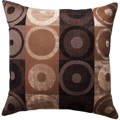Better Homes & Gardens Circles and Squares Decorative Throw Pillow, Brown