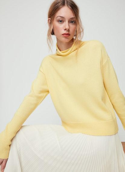 Wilfred Cyprie Sweater Mock-Neck, Merino Wool Sweater