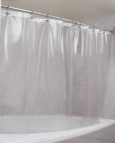 Epica Mildew-Resistant Clear Shower Curtain Liner