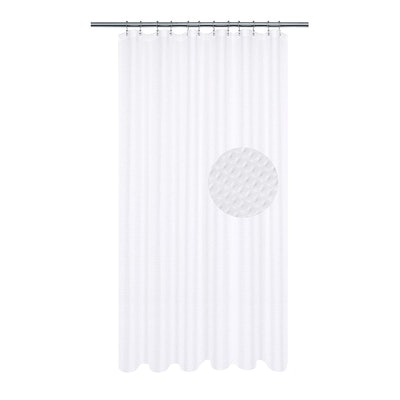 Barossa Design Pique Waffle Weave Shower Curtain
