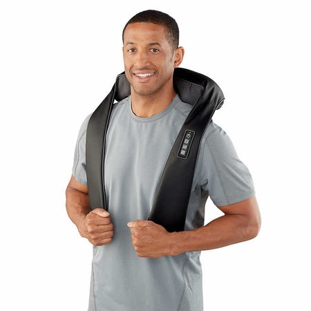 Quad Action Shiatsu Kneading Neck & Shoulder Massager with Heat