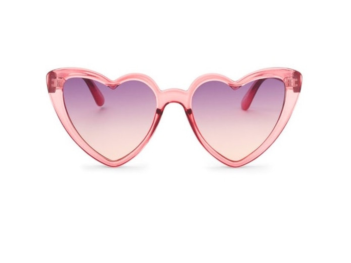 Pink Heart Cat Eye Sunglasses