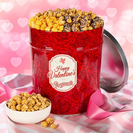 3.5 Gallon Valentine's Day Popcorn Party Tin