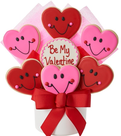Be My Valentine Cutout Cookie Bouquet