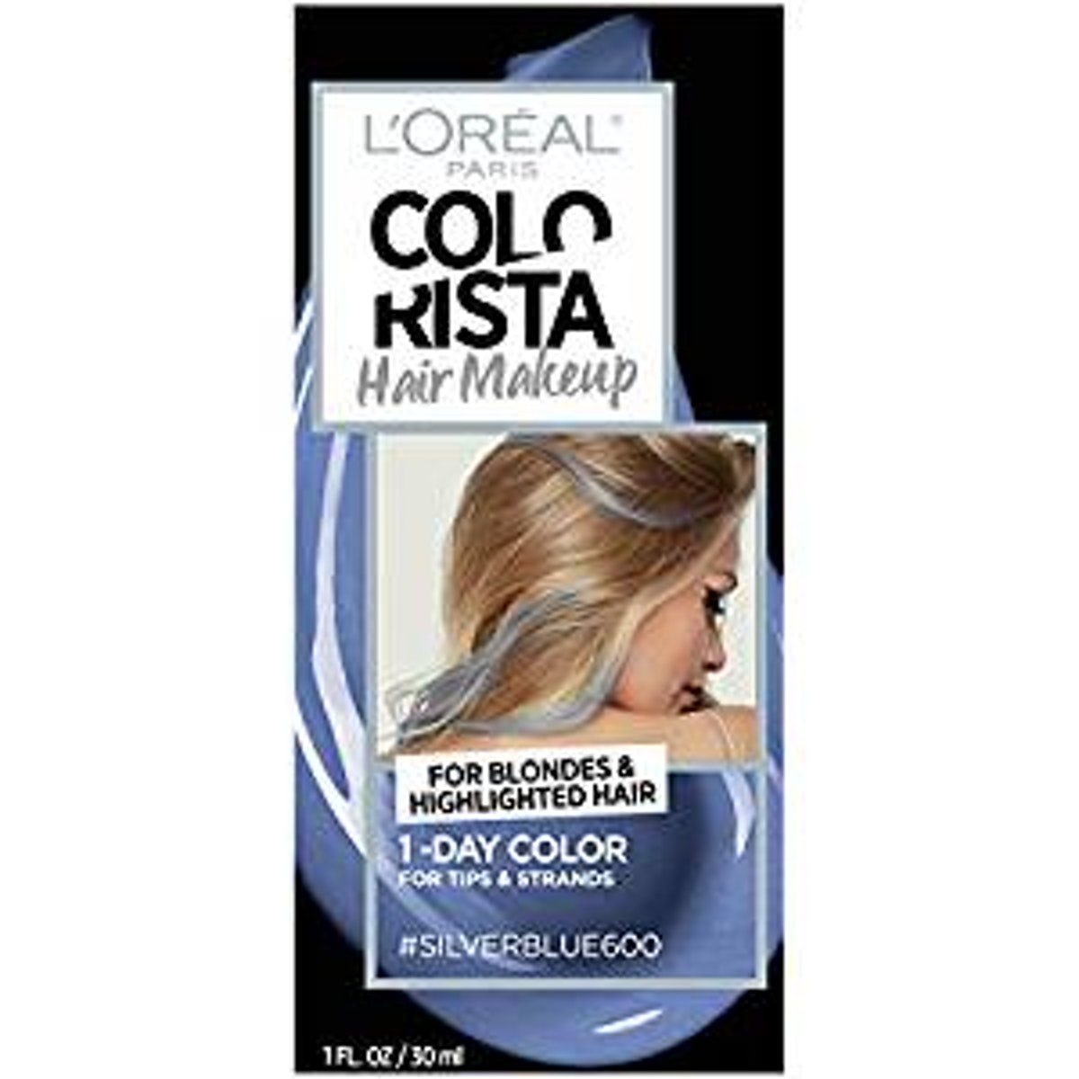 L'Oreal Paris Colorista Hair Makeup in Silver Blue