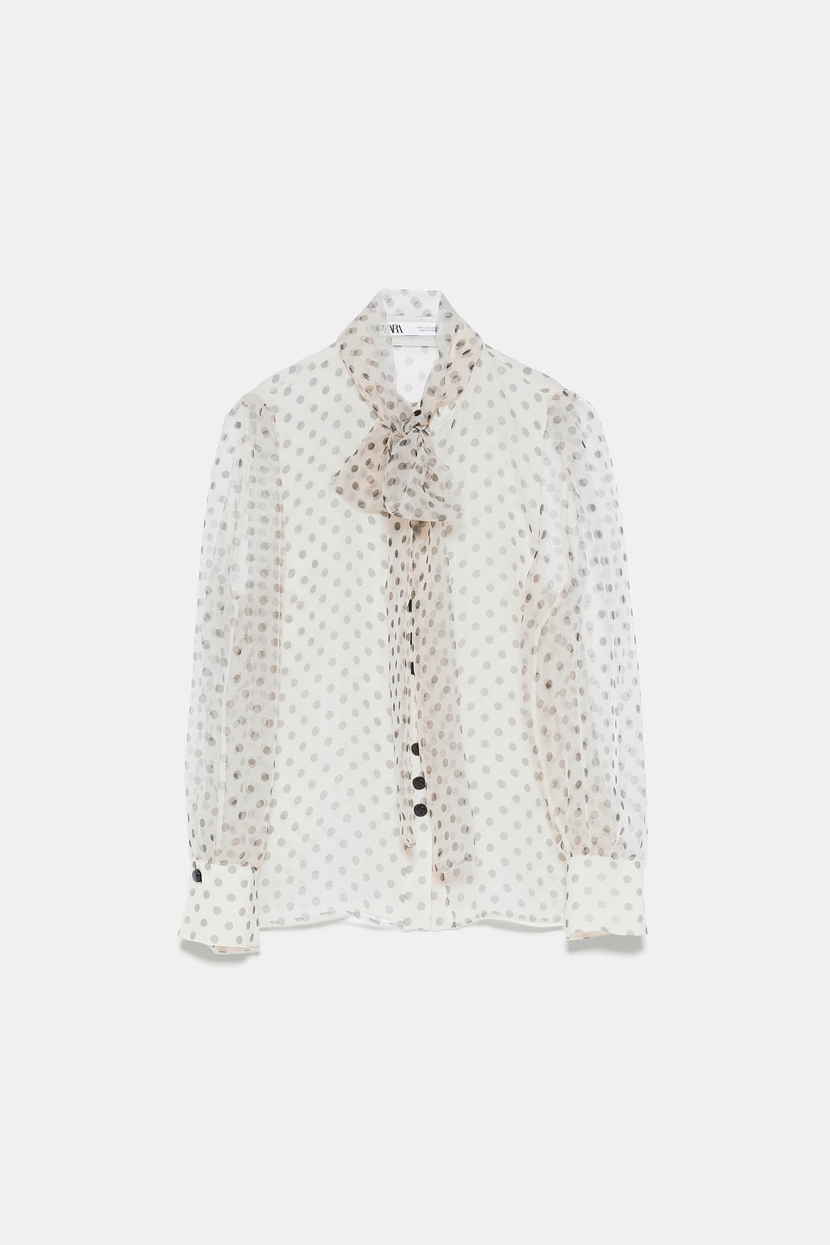 ORGANZA BLOUSE WITH TIE