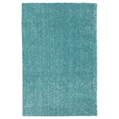 """LANGSTED Rug, Low Pile, Turquoise, 2'0""""x2'11"""""""