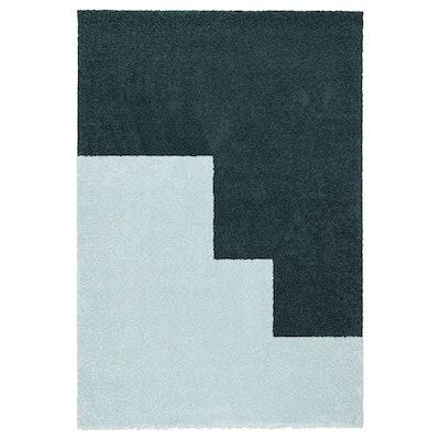 KONGSTRUP Rug, High Pile, Light Blue, Green