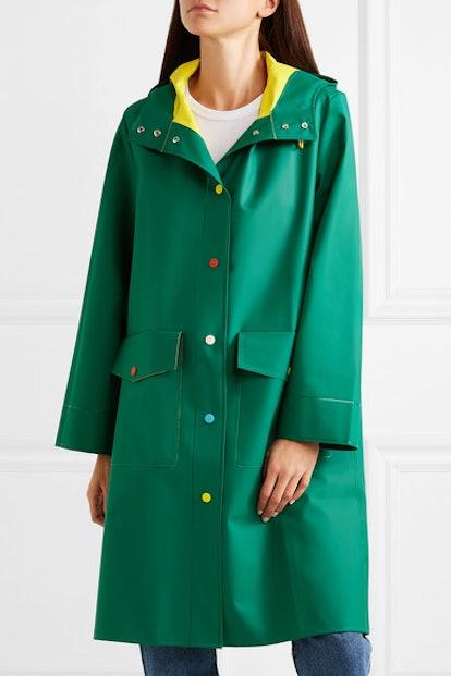 Mira Mikati Hooded Rubber Raincoat