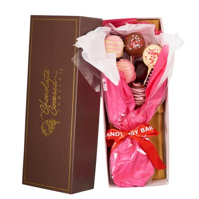 Valentine's Day Chocolate-Covered Donut Pops Bouquet