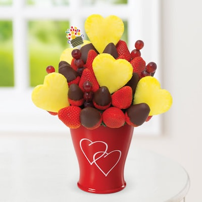 Blooming Hearts Dipped Strawberries