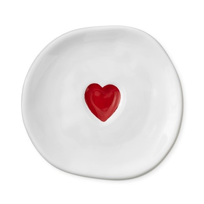 Valentine's Day Red Heart Salad Plates, Set of 4