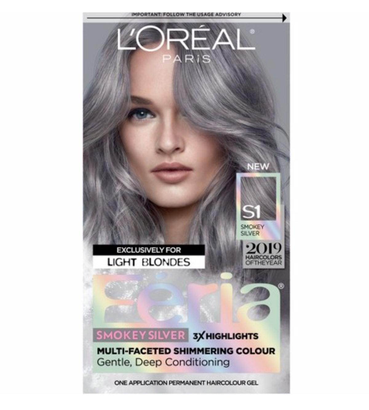 L'Oreal Paris Feria Permanent Hair Color in Smokey Silver