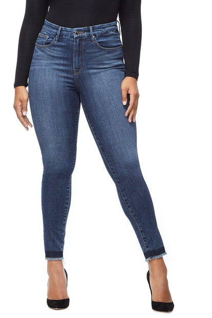 Good Waist Raw Hem Jeans