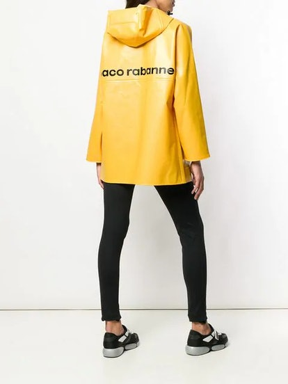Paco Rabanne Printed Logo Coat