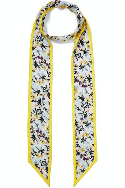 Floral-Printed Silk-Twill Scarf