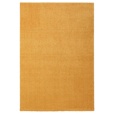 """LANGSTED Rug, Low Pile, Yellow, 4'4""""x6'5"""""""