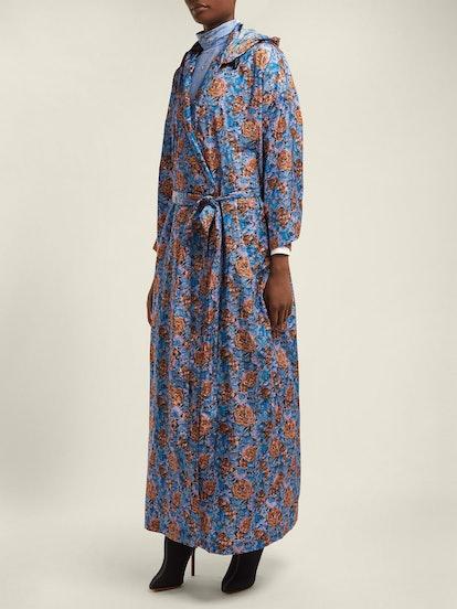 Vetements Floral-Print Hooded Raincoat