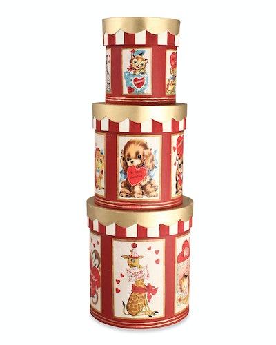 Bethany Lowe Monkeying Around Valentine Boxes, Set of 3