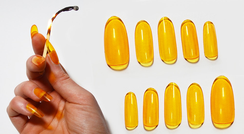 Where To Get Digits\u0027 Fyre Fest Orange Juicy Jelly Nails To