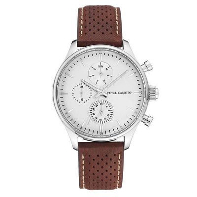 Brown Leather Strap Men's Watch