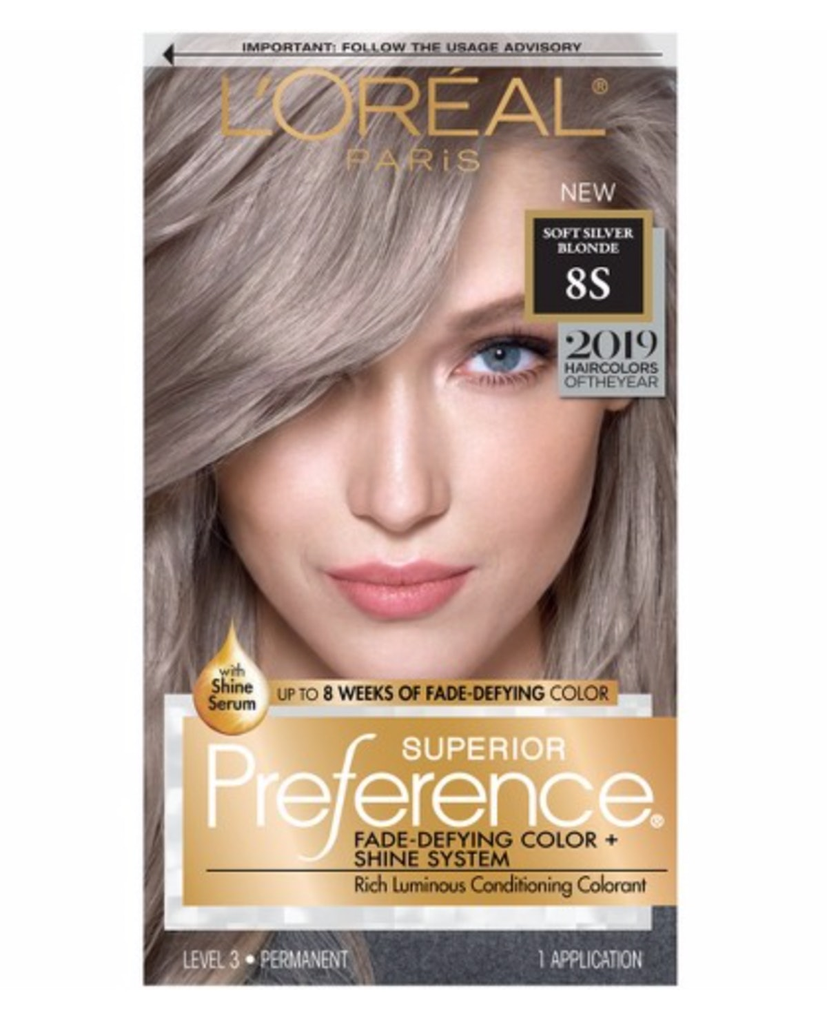 L'Oreal Paris Superior Preference Permanent Hair Color in Soft Silver Blonde