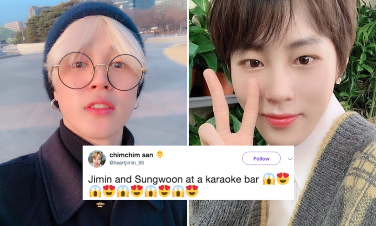 This Video Of BTS' Jimin Singing Karaoke With Sungwoon Has Fans' Hearts Melting
