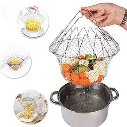 Delidge Foldable Strainer Basket
