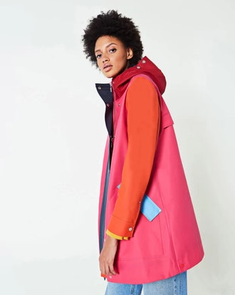 Women's Original Color Blocked Rubberized Hunting Coat: Bright Pink