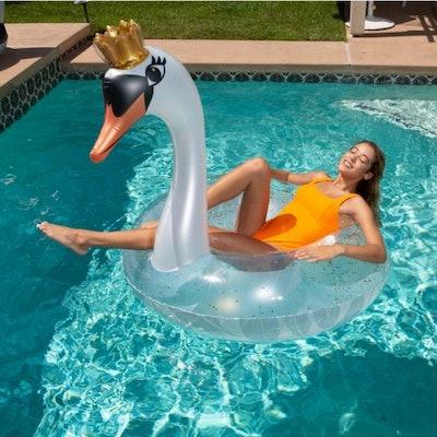 White Swan Pool Float