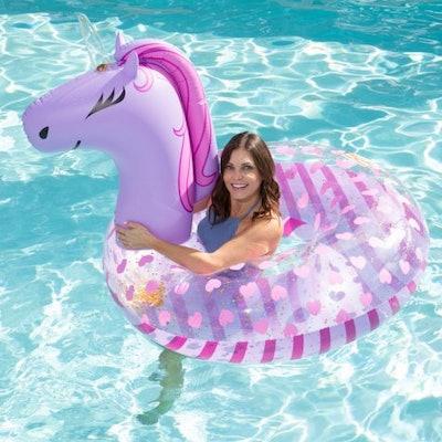 Purple Unicorn Pool Float