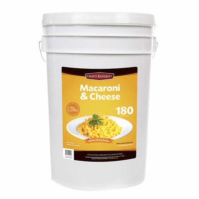 27-pound Tub of Mac and Cheese