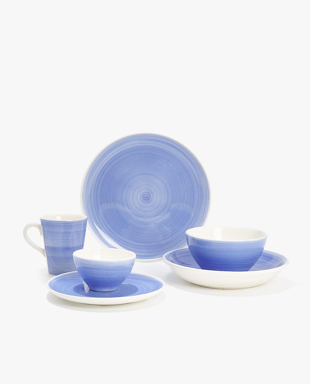 Earthenware Dinnerware With Spiral Design