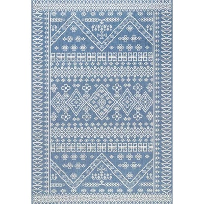 Zahara Blue Indoor/Outdoor Area Rug