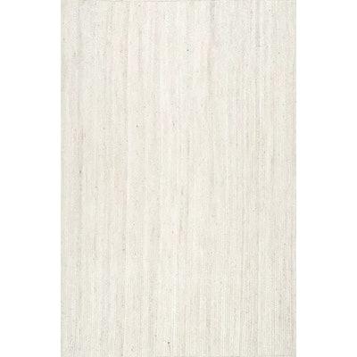 Burrillville Hand-Woven White Area Rug