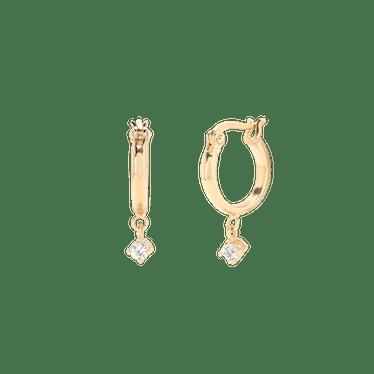 Sapphire Hoops