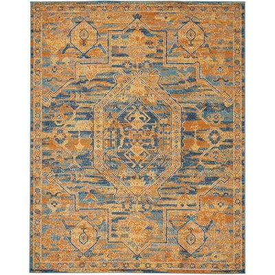 Shez Teal/Sun Indoor Area Rug