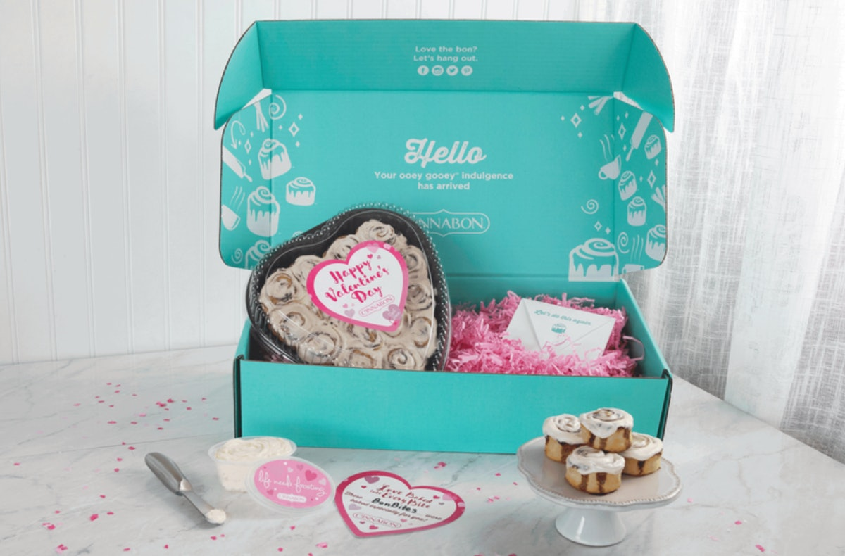 Cinnabon's Heart-Shaped Boxes For Valentine's Day Are A Delicious Gift For This Year